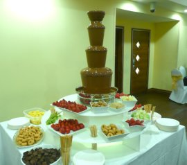 chocolate fountain wedding party